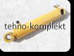 Гидроцилиндр поворота левый / правый на погрузчик XGMA XiaGong XG955 (10C0045, 10C0044)